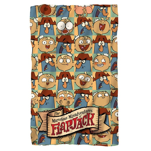 Flapjack/And Captain Fleece Blanket in White
