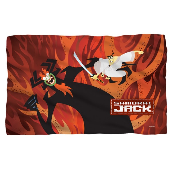 Samurai Jack/Epic Battle Fleece Blanket in White