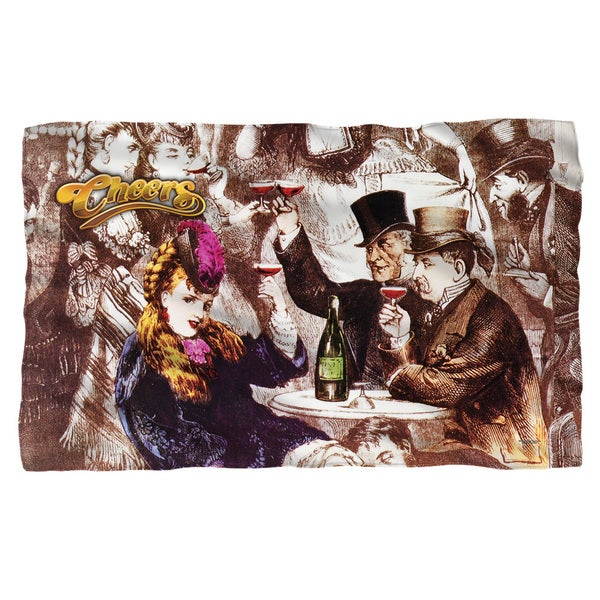 Cheers/Old Fashioned Fleece Blanket in White