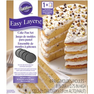 "Easy Layers 8"" Round Cake Pan Set 4pc"