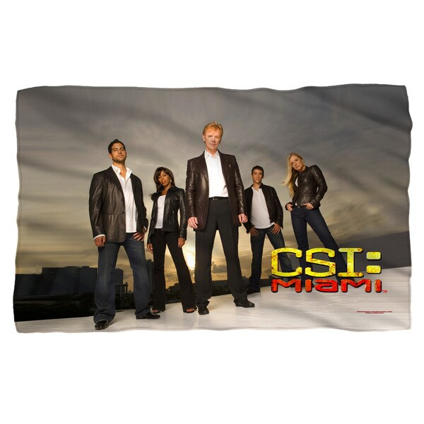 Csi:Miami/Cast Fleece Blanket in White