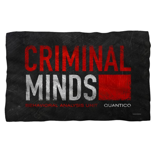 Criminal Minds/Logo Fleece Blanket in White