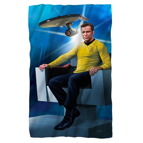 Star Trek/Captains Chair Fleece Blanket in White