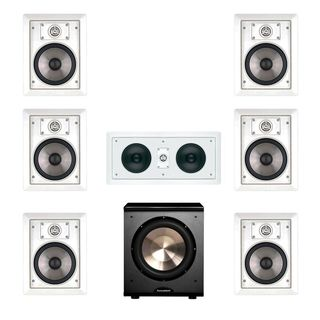 JBL SP6II 7.1 Surround Sound In-Wall Speakers With HTi55 Center and PL-200 Sub