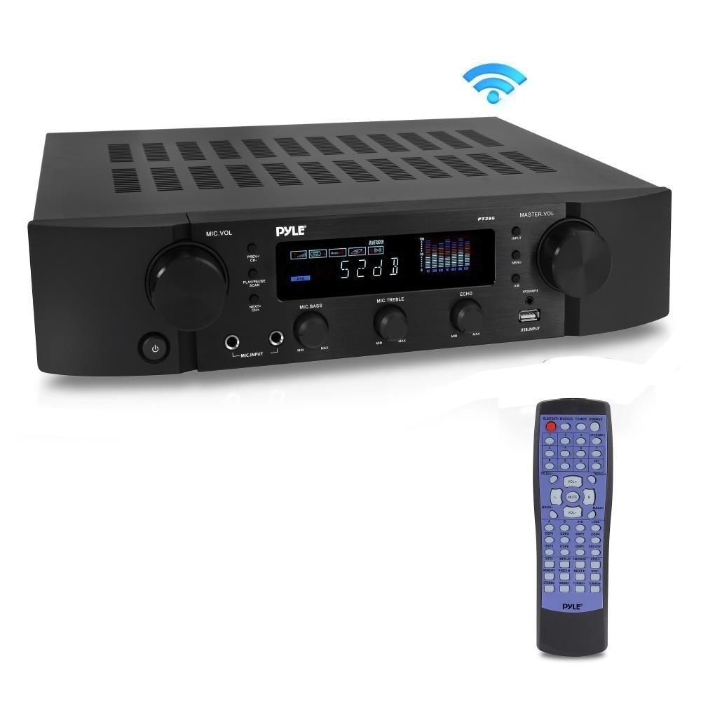 Pyle PT395 Bluetooth Hybrid Pre-Amplifier MP3/USB/AUX/FM ...