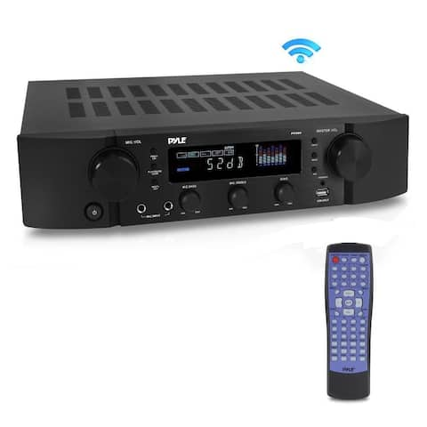 Pyle PT395 Bluetooth Hybrid Pre-Amplifier MP3/USB/AUX/FM Pre-Amp Receiver Radio Home Theater Stereo