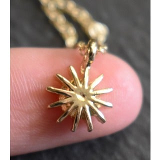 """Mint Jules Dainty 18k Gold Overlay Starburst Layering Necklace 18"""""""