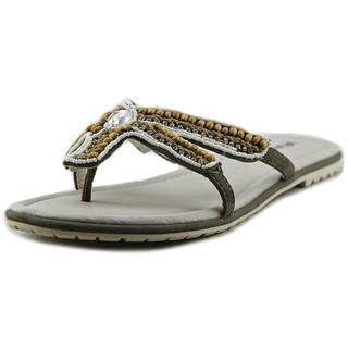 Rialto Women's 'Starfish' Grey Faux Leather Sandals