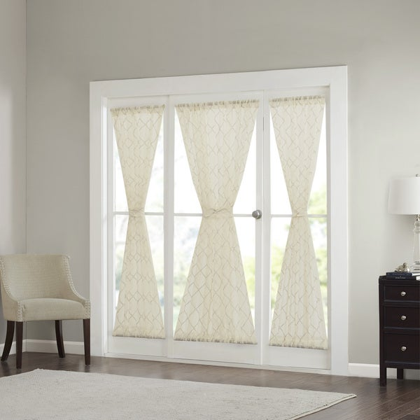Madison Park Iris Diamond Sheer Door Curtain Panel & Madison Park Iris Diamond Sheer Door Curtain Panel - Free Shipping ...
