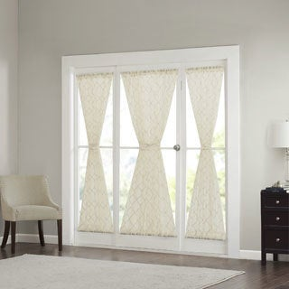 Madison Park Iris Diamond Sheer Door Curtain Panel 4-Color Option