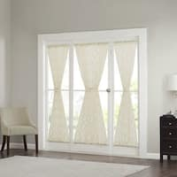 Madison Park Iris Diamond Sheer Door Curtain Panel