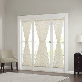 Madison Park Iris Diamond Sheer Door Curtain Panel