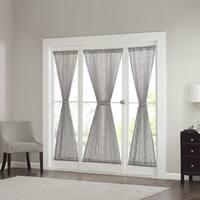 Madison Park Warner Iris Diamond Sheer Sidelight Single Curtain Panel