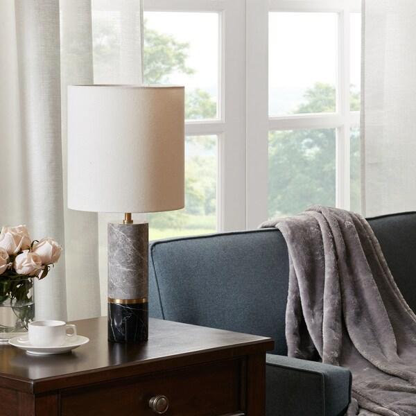 "Madison Park Signature Weller Black/Grey Table Lamp - 8.75wx8.75dx20.50h"""