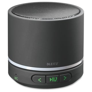 Leitz Speaker System - Portable - Battery Rechargeable - Wireless Speaker(s) - Black - Black