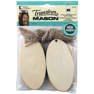 Transform Mason Wooden Tags 8/Pkg