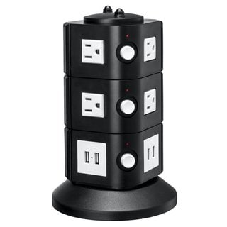 Yubi Power 8-outlet Surge Protector and 8-port USB Family Charging Station