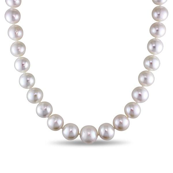 Shop Miadora 14k White Gold Cultured Freshwater Pearl