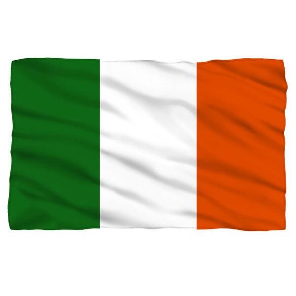 Irish Flag Fleece Throw in White