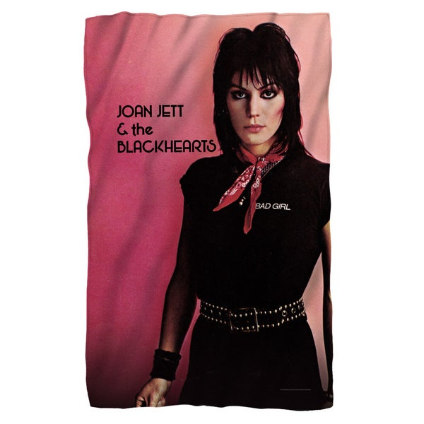 Joan Jett/Crimson and Clover Fleece Blanket in White