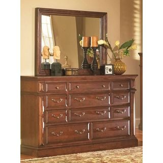 Traditional 11-drawer Dresser and Mirror Set
