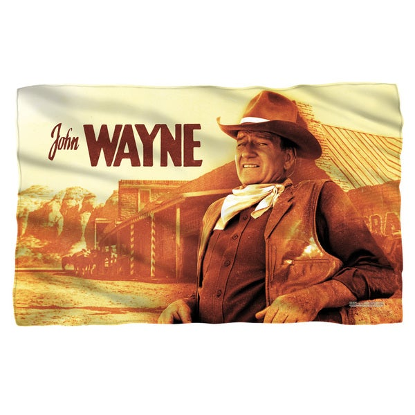 John Wayne/Old West Fleece Blanket in White