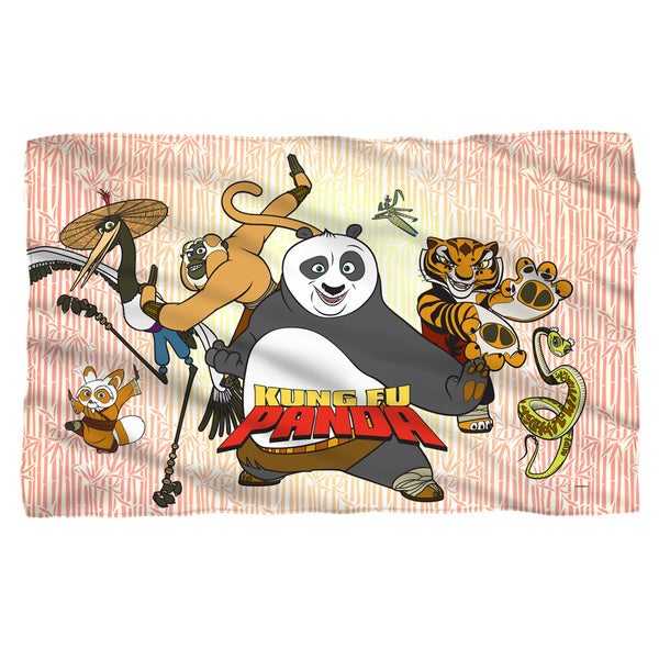 Kung Fu Panda/Kung Fu Group Fleece Blanket in White