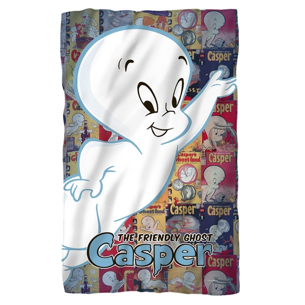 Casper The Friendly Ghost/Casper and Covers Fleece Blanket in White