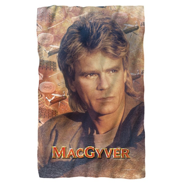 Macgyver/Tools Of The Trade Fleece Blanket in White