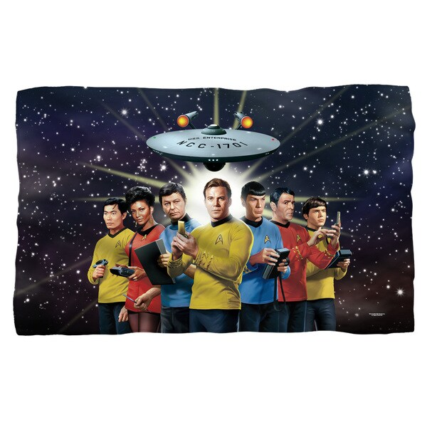 Star Trek/Original Crew Fleece Blanket in White