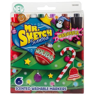 Mr.Sketch Scented Washable Marker Set 6/Pkg
