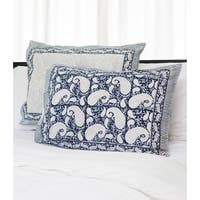 Handmade Set of 2 Dreams in India Indigo Vine Shams (India)