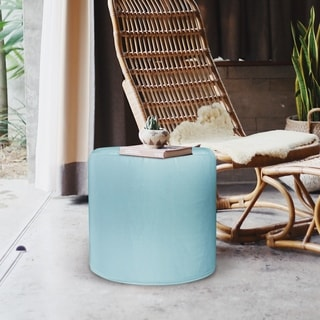 No Tip Cylindrical-shaped Seascape Breeze Outdoor Ottoman