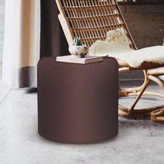 Seascape Chocolate No-tip Cylinder Ottoman