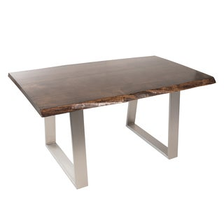 Live Edge Dining Table 60-Inch Jacobean Stain (Canada)
