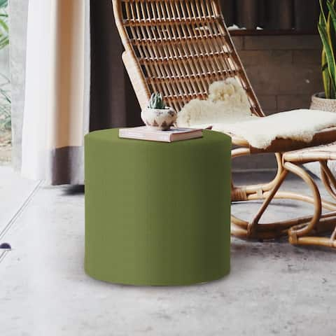 No Tip Cylinder Ottoman with Cover, Seascape Moss