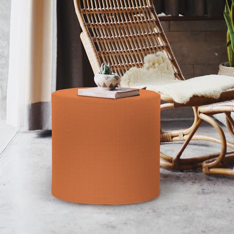 No Tip Cylinder Ottoman with Cover, Seascape Canyon