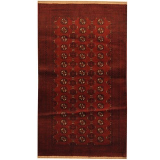 Herat Oriental Afghan Hand-knotted Tribal Balouchi Wool Area Rug (3'4 x 5'10)