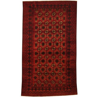 Herat Oriental Afghan Hand-knotted Tribal Balouchi Wool Area Rug (3'8 x 6'6)