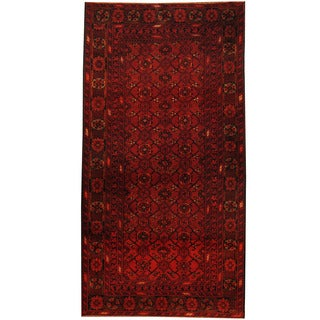 Herat Oriental Afghan Hand-knotted Tribal Balouchi Wool Area Rug (3'4 x 6'4)