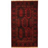 Handmade Herat Oriental Afghan Tribal Balouchi Wool Area Rug (Afghanistan) - 3'9 x 6'5