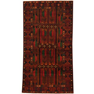 Herat Oriental Afghan Hand-knotted Tribal Balouchi Wool Area Rug (3'6 x 6'4)