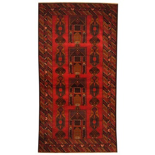 Herat Oriental Afghan Hand-knotted Tribal Balouchi Wool Area Rug (3'6 x 6'6)