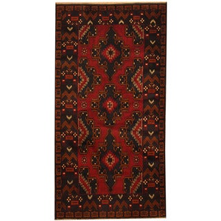 Herat Oriental Afghan Hand-knotted Tribal Balouchi Wool Area Rug (3'6 x 6'8)