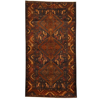 Herat Oriental Afghan Hand-knotted Tribal Balouchi Wool Area Rug (5'4 x 7'6)