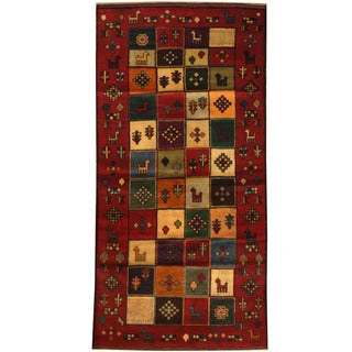 Herat Oriental Afghan Hand-knotted Tribal Balouchi Wool Area Rug (3'2 x 6'5)