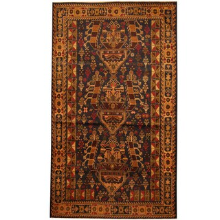 Herat Oriental Afghan Hand-knotted Tribal Balouchi Wool Area Rug (3'5 x 6'5)