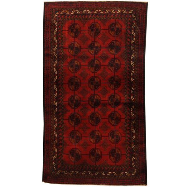 Handmade Herat Oriental Afghan Tribal Balouchi Wool Area Rug (Afghanistan) - 3'5 x 6'