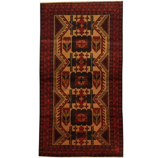 Herat Oriental Afghan Hand-knotted Tribal Balouchi Wool Area Rug (3'5 x 6'4)