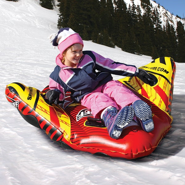 Sporsstuff Manta Ray Multicolored Plastic Inflatable Sled